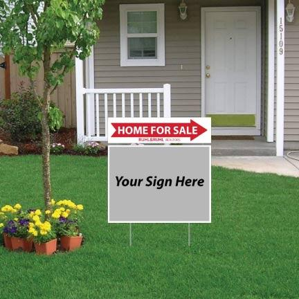 Ruhl & Ruhl Home for Sale Directional Sign Rider 6x24
