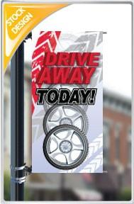"18""x36"" Drive Away Today Pole Banner FREE SHIPPING"