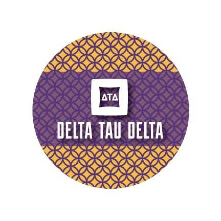 Delta Tau Delta Coaster Set - Fun Designs - Set of 4