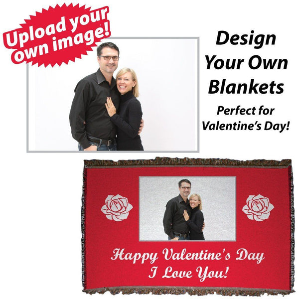 Valentine's Day Custom Woven Throw Blanket
