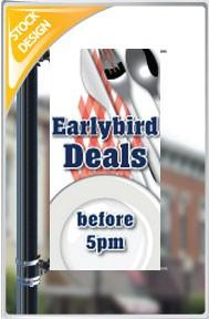 "18""x36"" Earlybird Deals Pole Banner FREE SHIPPING"