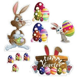 Easter Yard Decoration - Easter Bunnies, Egg Piles, Happy Easter Sign