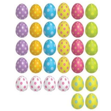 Easter Yard Decorations - FLAT Hanging Easter Eggs - FREE SHIPPING