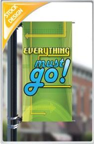 "18""x36"" Everything Must Go Pole Banner FREE SHIPPING"