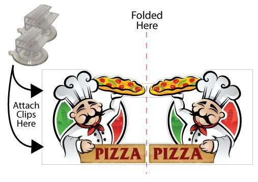Pizza 3D Window Sign Design