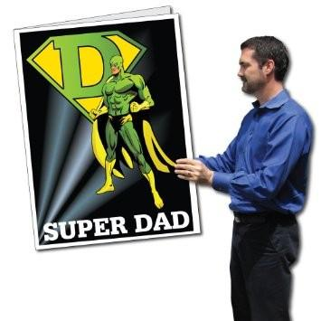 2'x3' Giant Super Hero Father's Day Card with Envelope