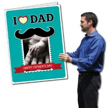 2'x3' Giant Father's Day Card with Envelope - I Love Dad Design with