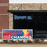 Oil Change Fast Vinyl Banner with Grommets