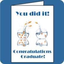 Graduation Fish Bowl Card - 3' Standard Card