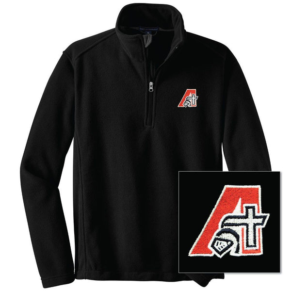 School Approved Black Fleece Half-Zip Pullover