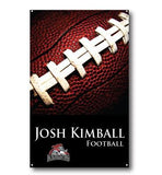 A football themed sports banner