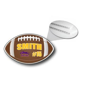 Football Shaped Team & Player Fence & Yard Signs