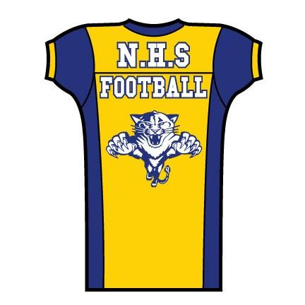 Die Cut Football Jersey Cutout Signs - One Sided