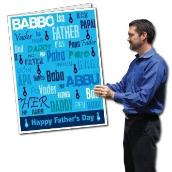 A giant father's day card