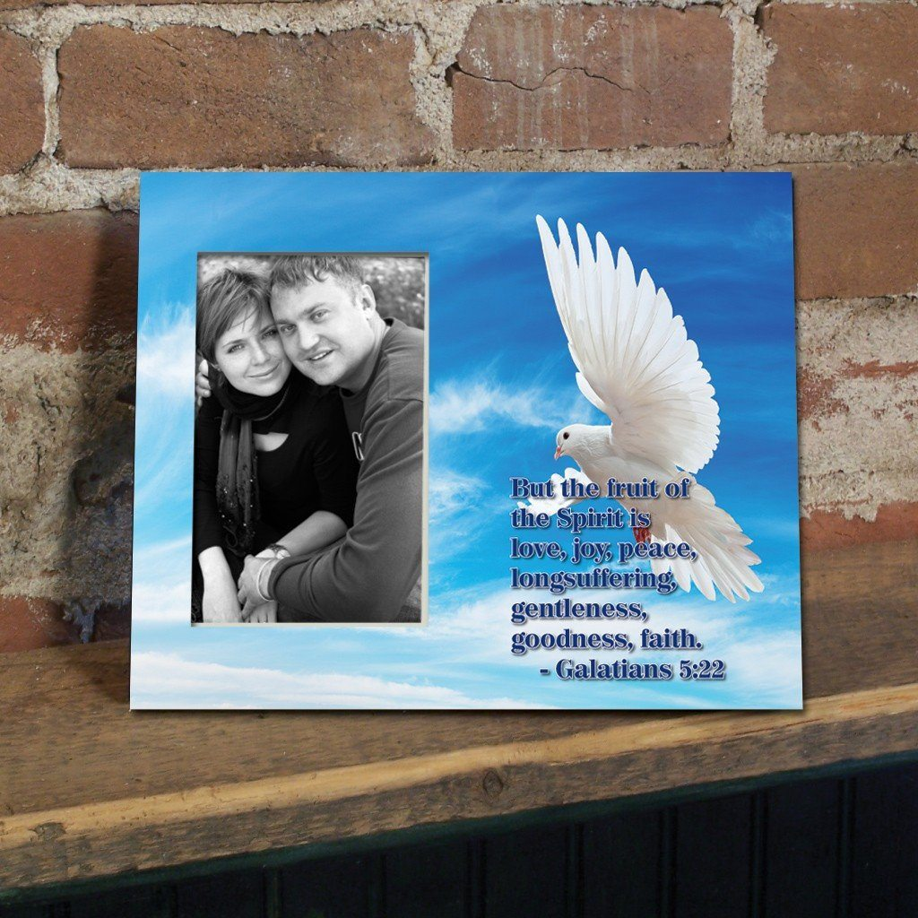 Galatians 5:22 Decorative Picture Frame - Holds 4x6 Photo