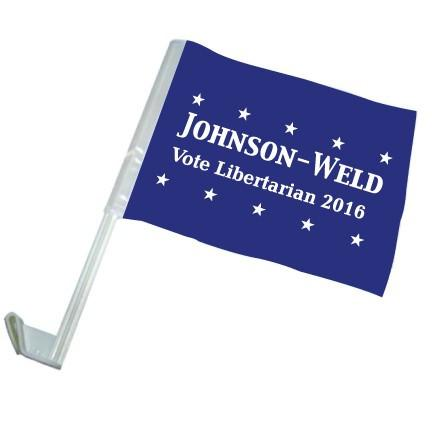 Johnson-Weld Vote Libertarian - Car Flag - Set of 2