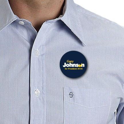 Gary Johnson for President Button 2016
