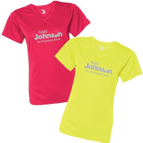 Gary Johnson for President SafetyRunner Reflective V-Neck Performance - FREE SHIPPING