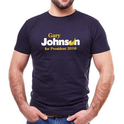 Gary Johnson for President T-shirt - FREE SHIPPING