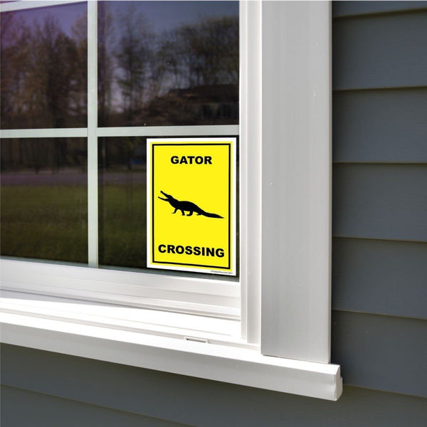 Gator Crossing Sign or Sticker