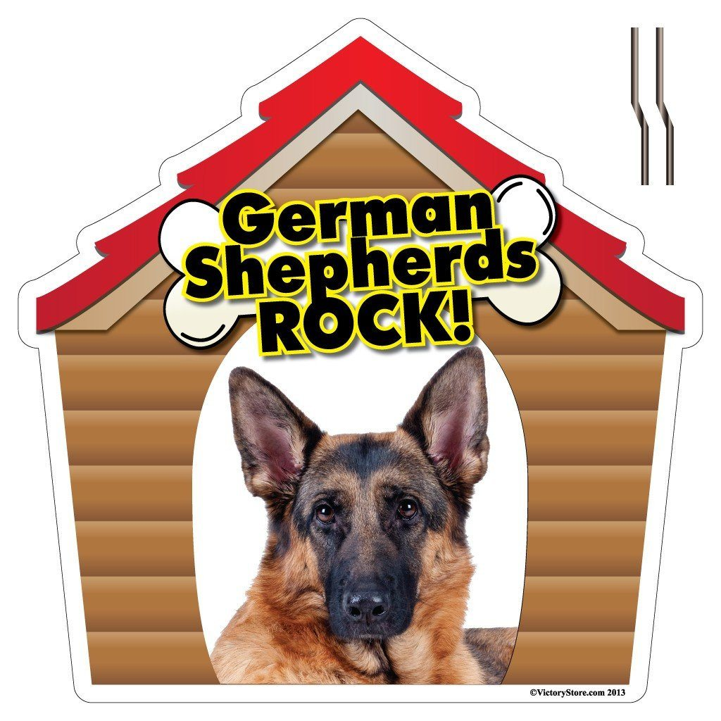 German Shepherds Rock! Dog Breed Yard Sign - Plastic Shaped Yard Sign - FREE SHIPPING