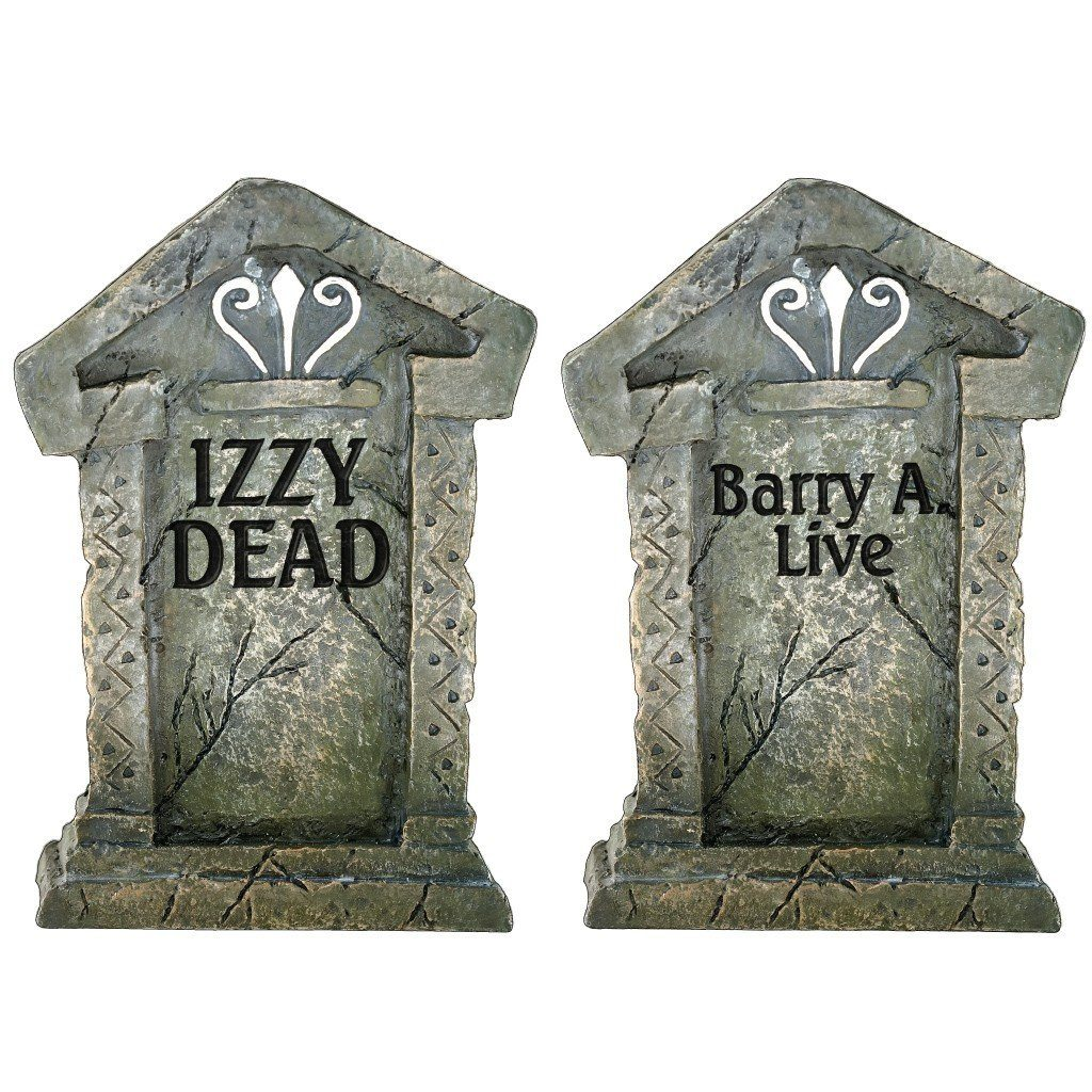 Halloween HANGING Lawn Decorations Corrugated Plastic Ghosts in Graveyard Set - FREE SHIPPING