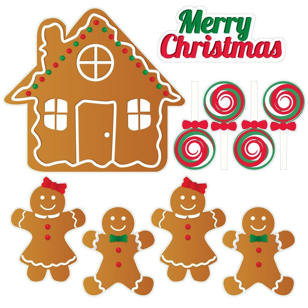 Gingerbread House 7 Piece Christmas Lawn Decoration - FREE SHIPPING