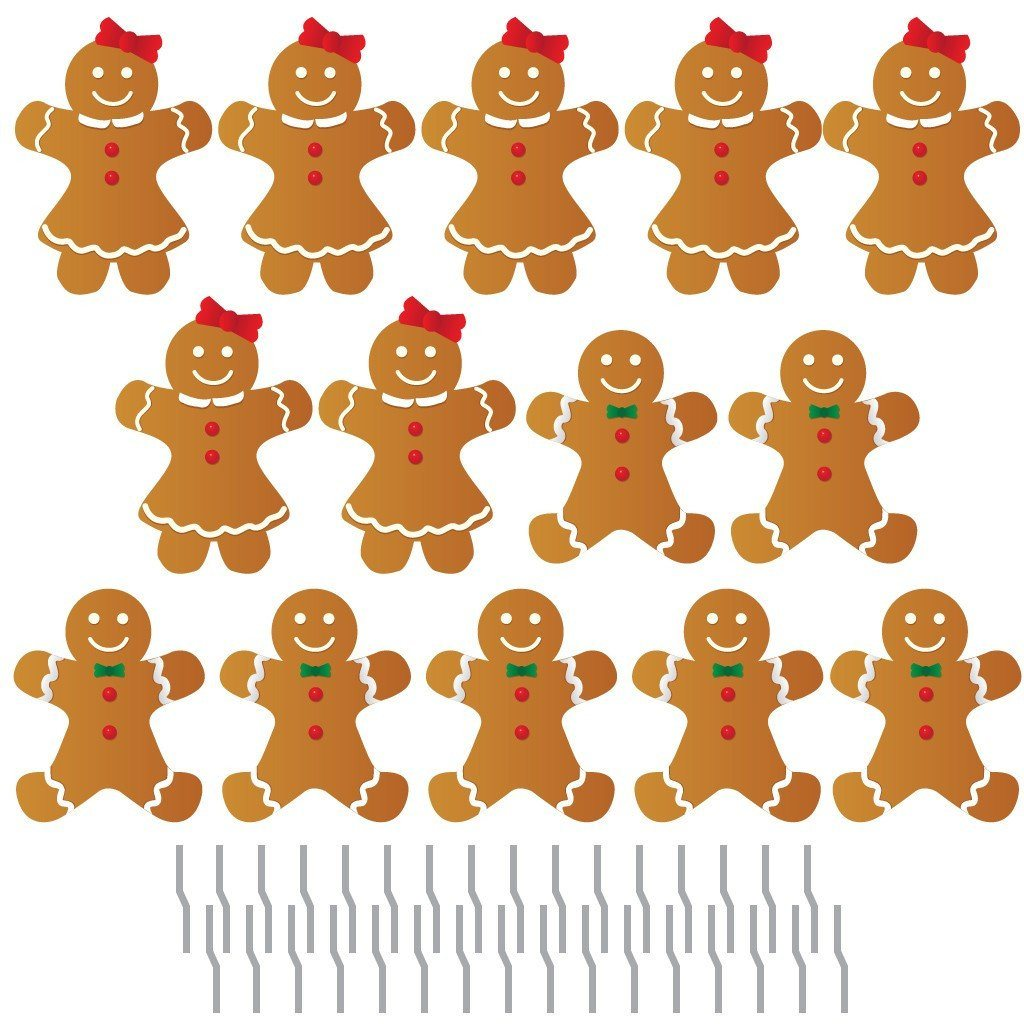 Gingerbread People Pathway Markers Christmas Yard Decorations - FREE SHIPPING