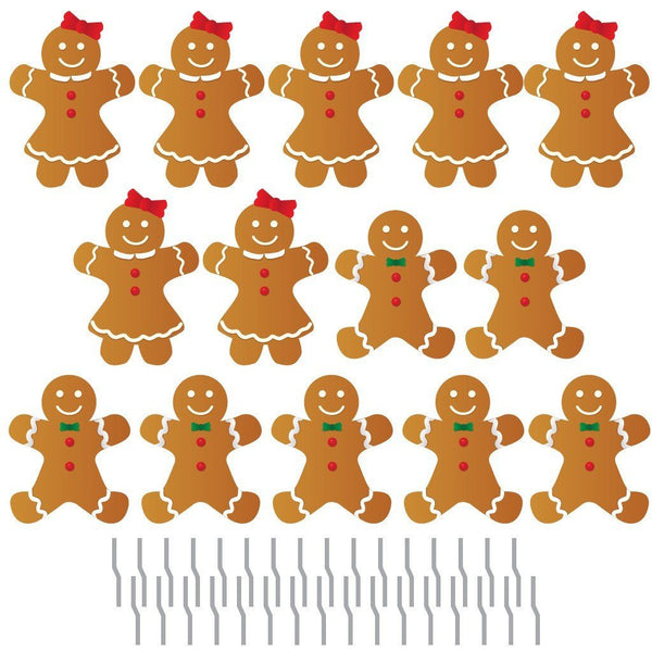 Gingerbread People Pathway Markers Christmas Yard Decorations
