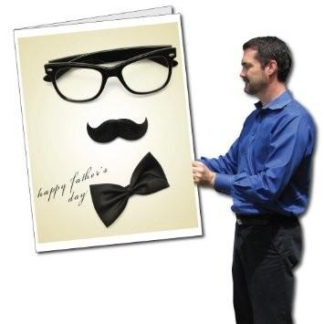 2'x3' Giant Father's Day Card with Envelope - Glasses, Mustache, and
