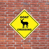 Goat Crossing Sign or Sticker