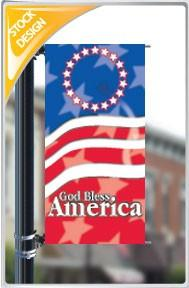 "18""x36"" God Bless America Pole Banner FREE SHIPPING"