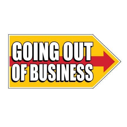 Going Out of Business Spinner Signs