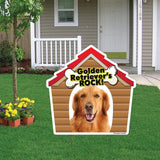 Golden Retrievers Rock! Dog Breed Yard Sign - Plastic Shaped Yard Sign