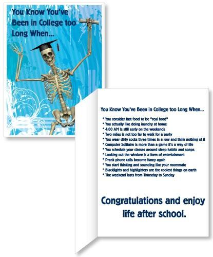 Graduation Skeleton Card - 3' Standard Card