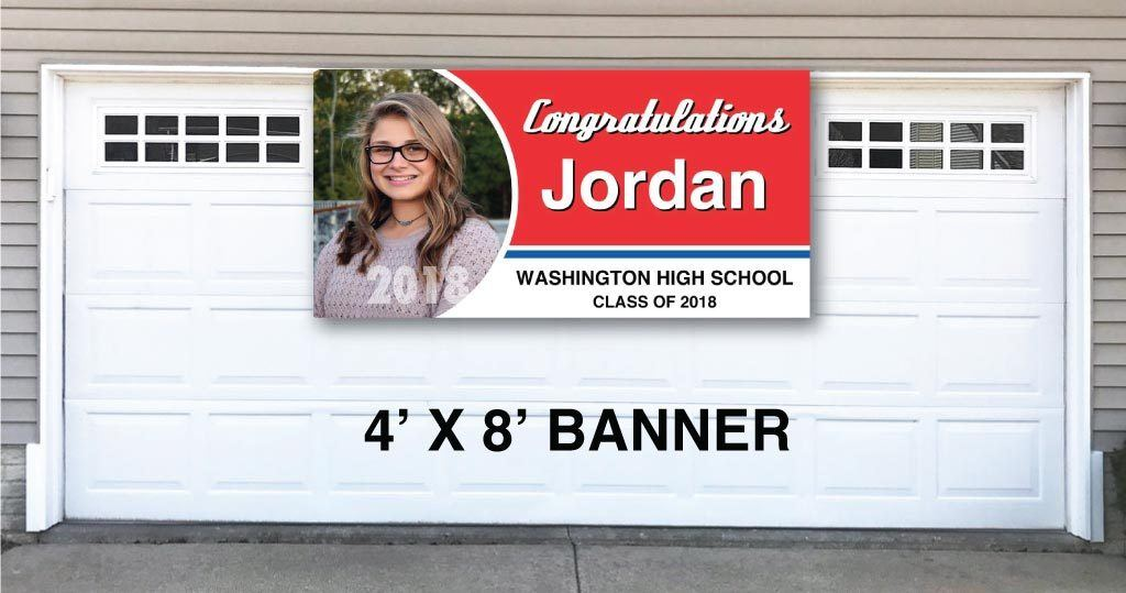 Graduation Banners - Circle Photo Design