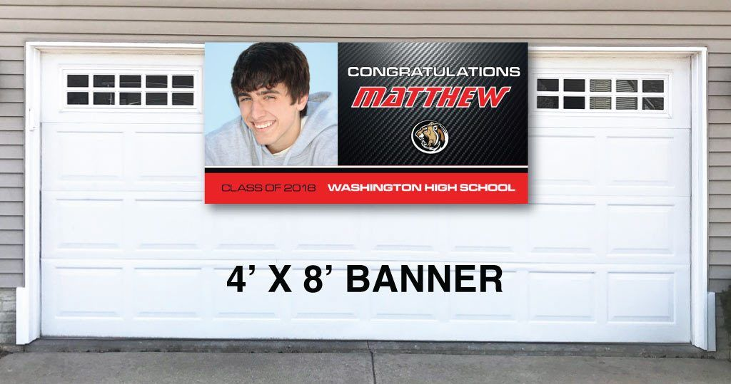 Graduation Banners - Carbon Fiber Design