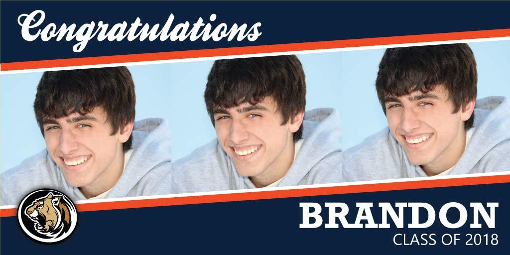 Graduation Banners - Angled Photo Design
