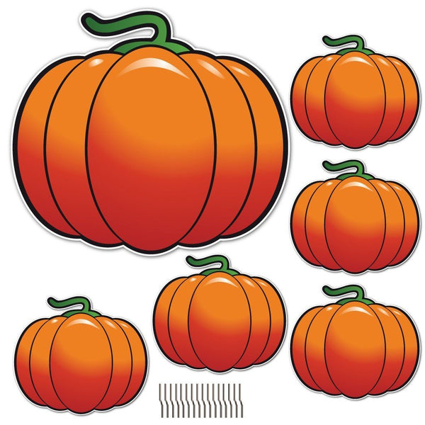 The Great Pumpkin and It's Patch 6 Piece Halloween Yard Card Set w/12 short stakes