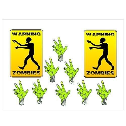 Warning Zombies! Halloween Pathway Markers - Free Shipping