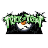 Trick-or-Treat Ghosts Halloween Lawn Decoration set of 12 w/ 26 short stakes