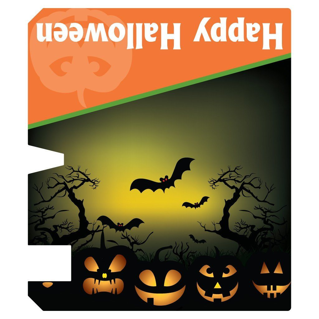 magnetic halloween mail cover template