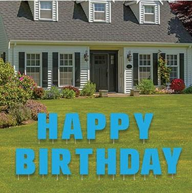 Happy Birthday Letters Yard Card