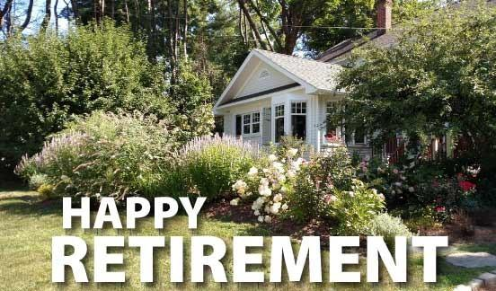 Happy Retirement Yard Letters - FREE SHIPPING