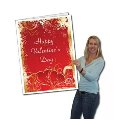 3' Stock Design Giant Valentine's Day Card W/Envelope