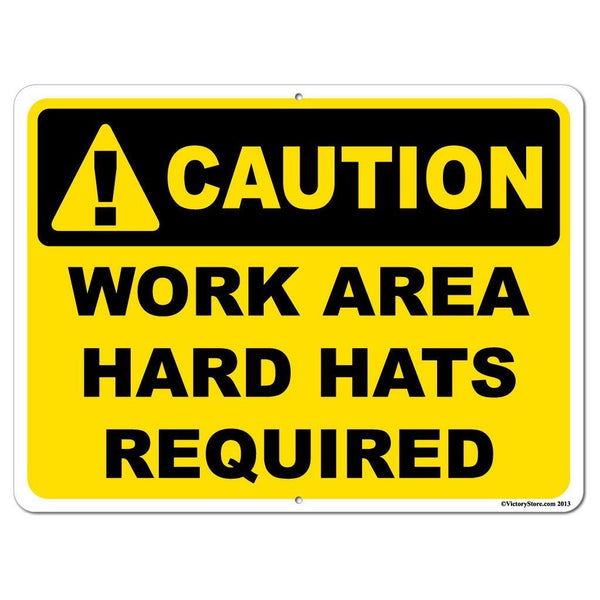 Hard Hats Required Sign or Sticker - #3