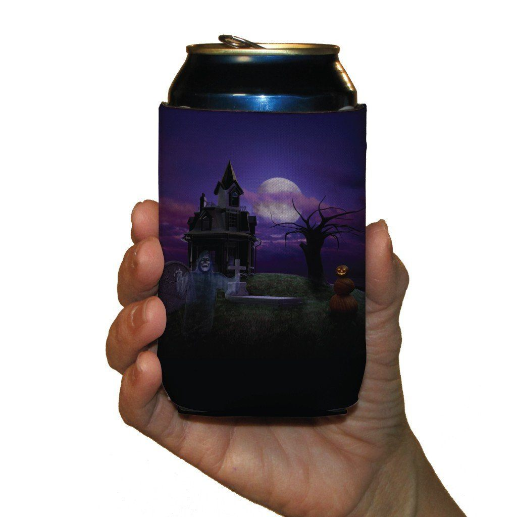 Halloween Party 'Haunted House' Can Cooler Set 6 FREE SHIPPING
