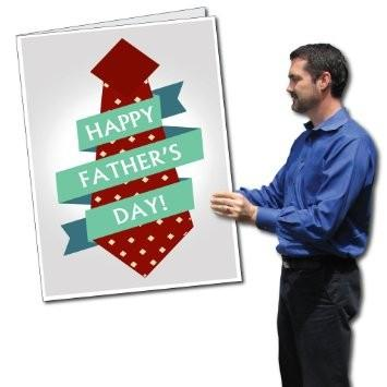 A giant Fathers Day greeting card
