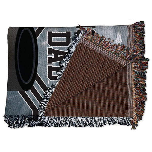 Hockey Dad Woven Blanket