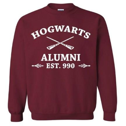 Hogwarts Alumni - Harry Potter Crewneck Sweatshirt FREE SHIPPING